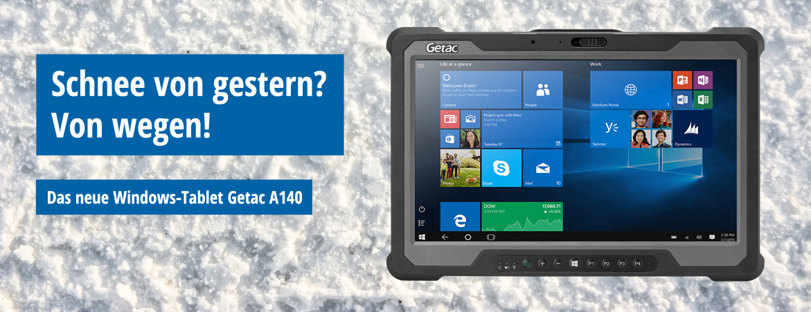 Das neue Windows-Tablet Getac A140